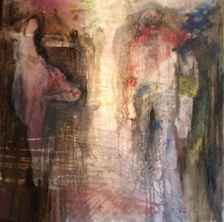 SOLD Salome's Dance, oil on canvas 80 x 80cmb SOLD
