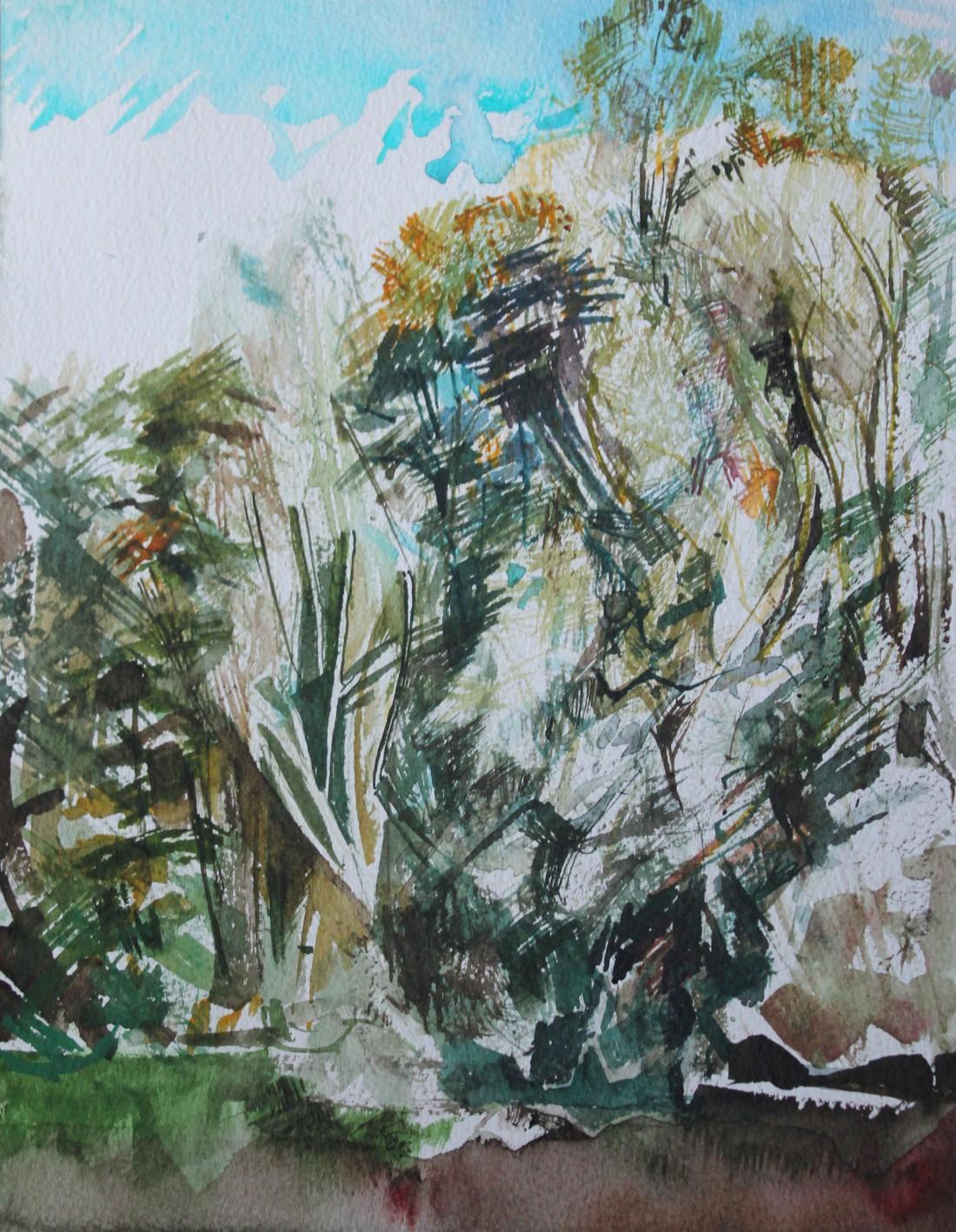 Stephen Kirin Trees at Lackford Lake